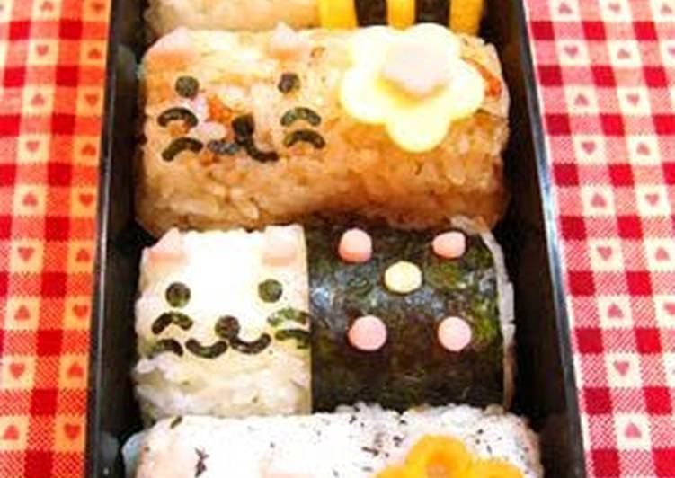 Bento with Barrel Cats