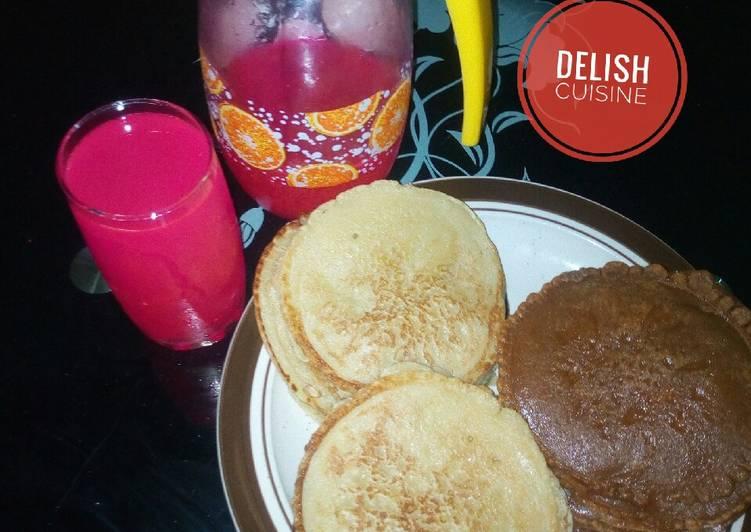 Pancakes and pink lemonade