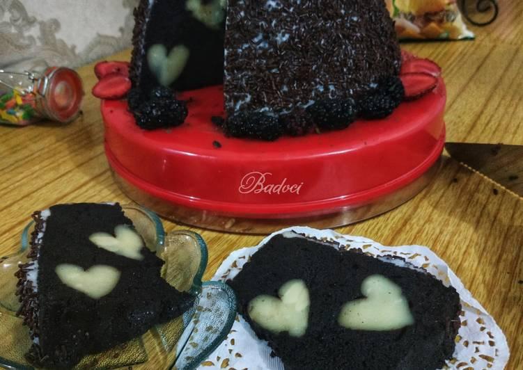 Chocolate Cheese Love Drop (cake kukus)