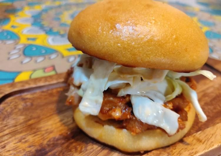 Korean Style Pulled Pork Sandwich
