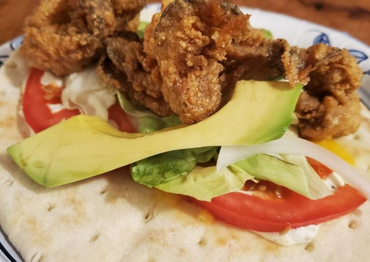 Easiest Way to Cook Tasty Brads oyster po boy wrap
