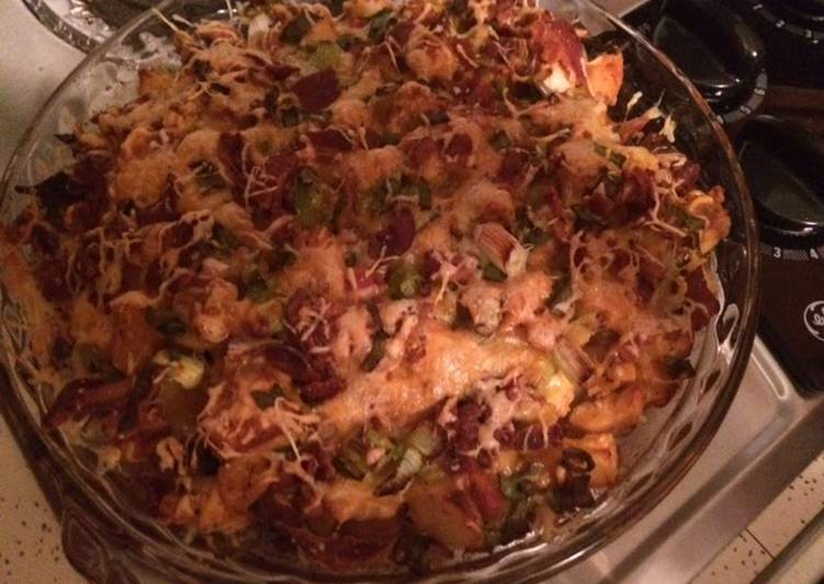 Loaded Baked Potatoes & Buffalo Chicken Casserole