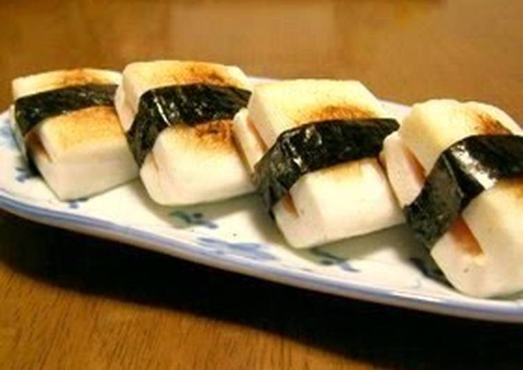 Recipe of Homemade Grilled Hanpen Fishcake with Mentaiko and Cheese