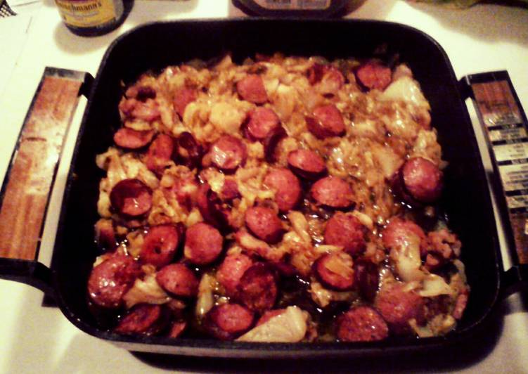 Easiest Way to Prepare Homemade Fried Cabbage with Smoked Sausage