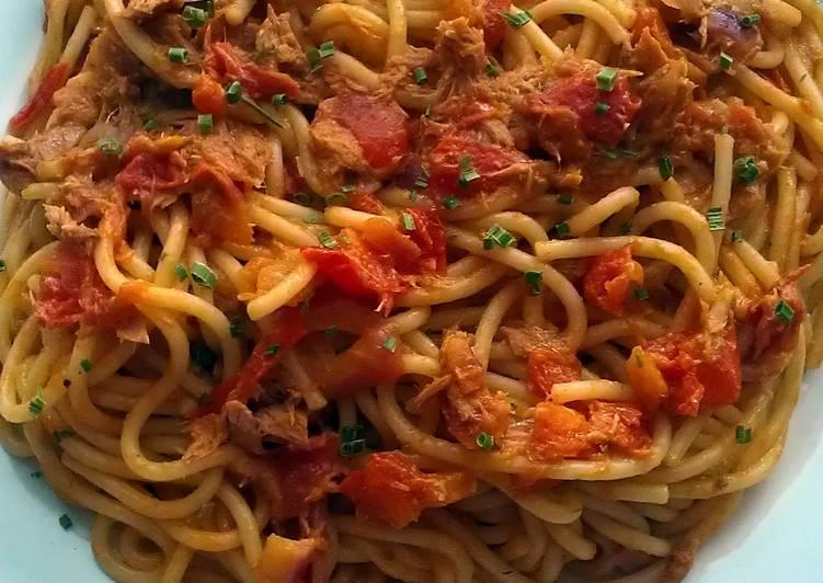 Easiest Way to Make Perfect Vickys Tuna & Chilli Spaghetti, GF DF EF SF NF
