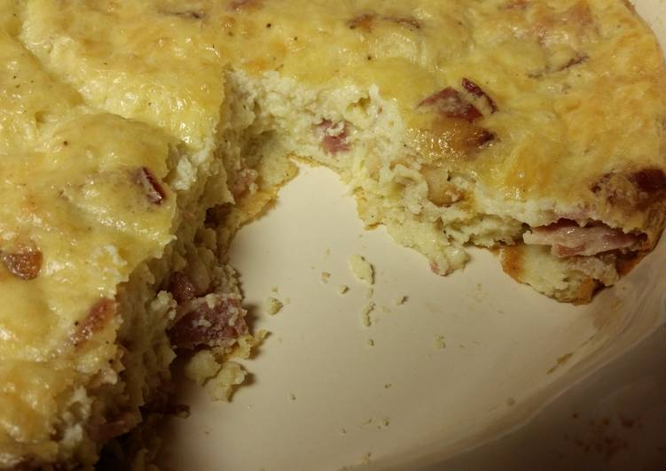 Bacon & Swiss Quiche (gluten-free)