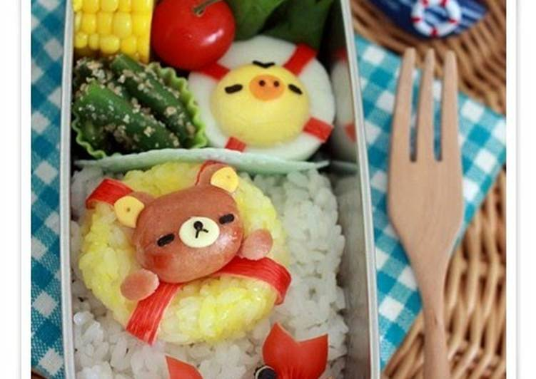 Discover How to Improve Your Mood with Food Charaben Rilakkuma made from Mini Sausages