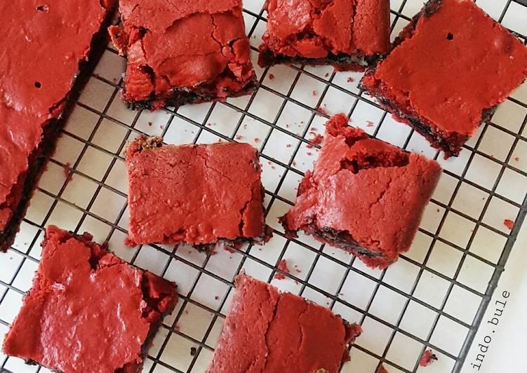 Oreo Cream Cheese stuffed Red Velvet Brownies