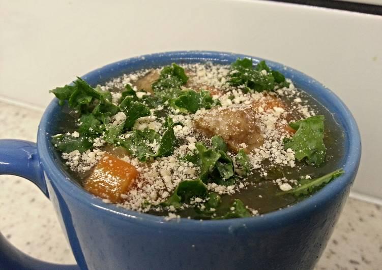 Easiest Way to Prepare Yummy Italian wedding crockpot/slow cooker with kale and barley
