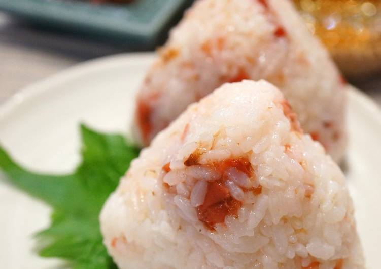 25 Minute Simple Way to Make Vegan My Granny's Onigiri with Pickled Plum and Bonito Flakes