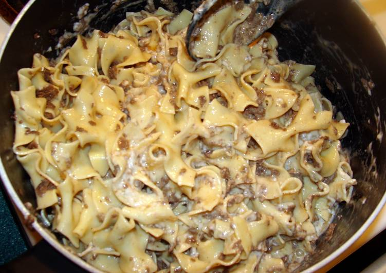Easiest Way to Cook Tasty taisen's beef stroganoff
