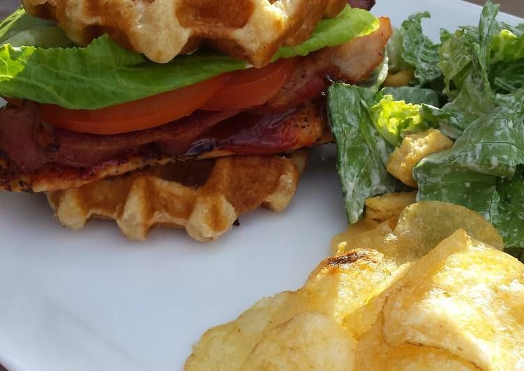 Easiest Way to Cook Appetizing Grilled Chicken Waffle Club