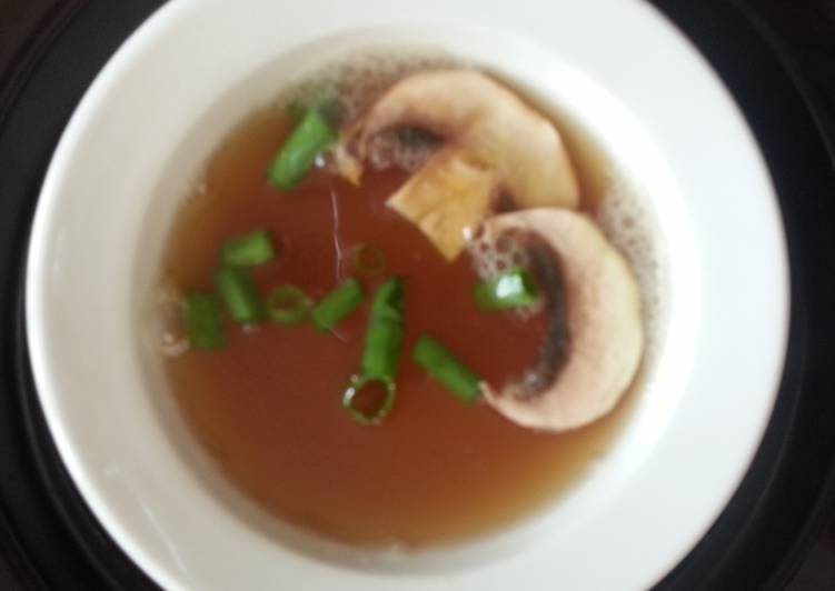 Steps to Make Favorite Kobees chicken broth soup