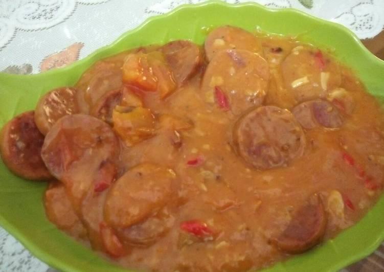 Simple rolade daging crunchy saos asam pedas manis