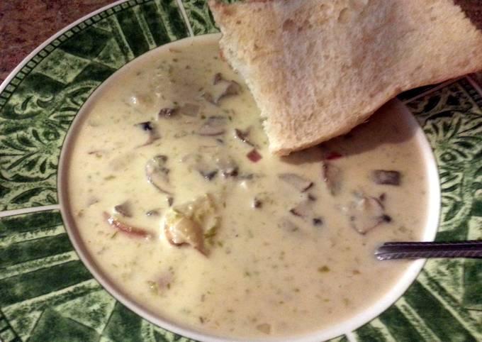 Mandy's cream of asparagus Soup