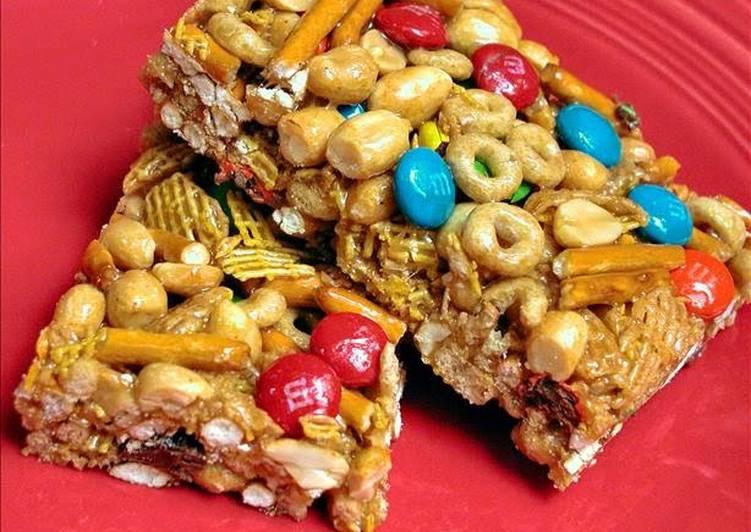 Sweet and Salty Cereal Bars Recipe by OliviasMom - Cookpad Kenya