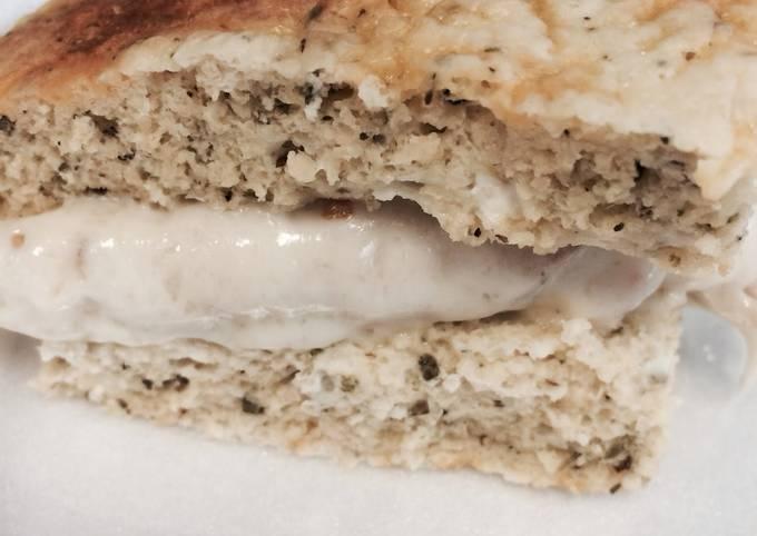 5 Minute Healthy Flat Bread (Dukan Diet/21 Day Fix)