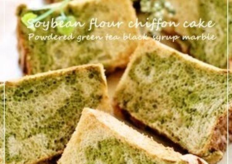 The Meals You Pick To Eat Are Going To Effect Your Health Kinako Chiffon Cake with Green Tea and Black Sugar