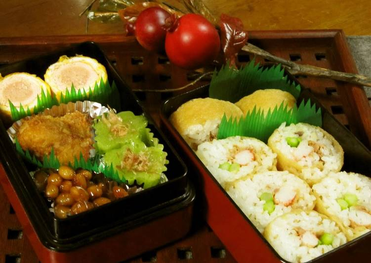 Steps to Make Quick Kumamoto Nankan-age Ginger Rice Sushi Rolls