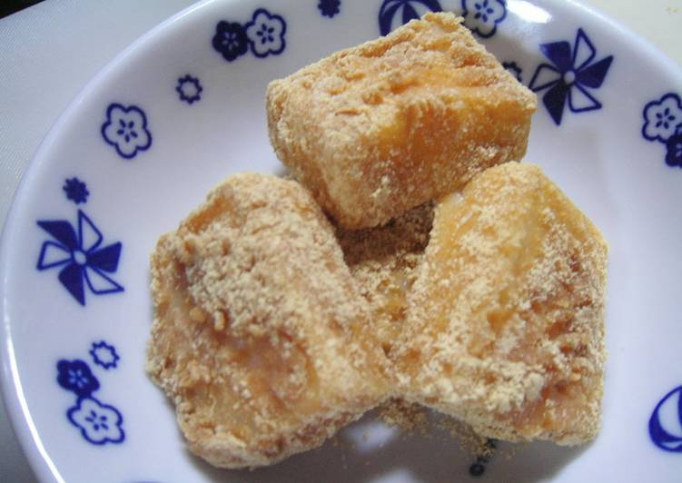 Living Greener for Better Health By Consuming Superfoods Instantly Done In The Microwave! Adaptable Kinako-mochi Using Cut Mochi Rice Cakes