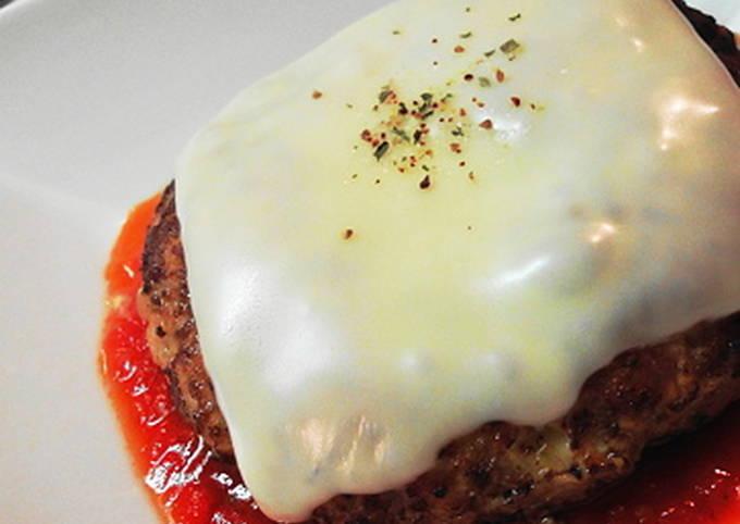 Healthy Italian-style Hamburger Steak with Tofu