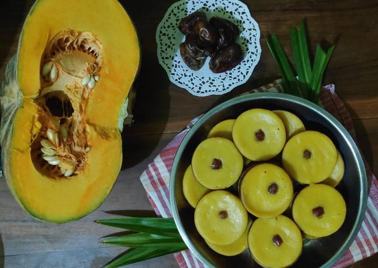 Kue Lumpur Pumpkin toping kurma