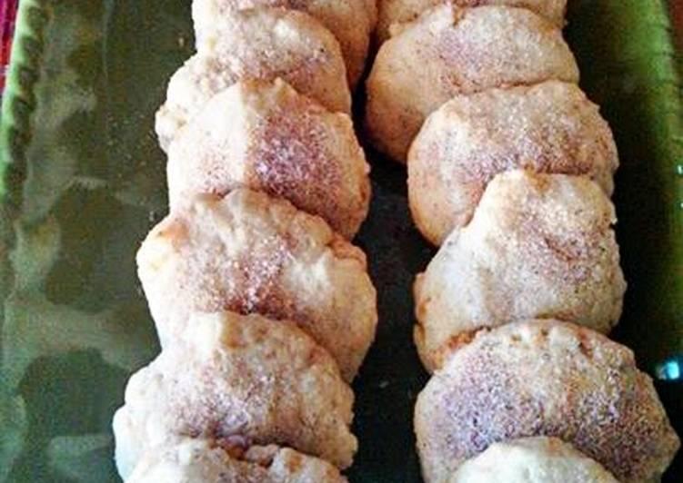 Shortbread Macadamia Cinnamon & Sugar Cookies