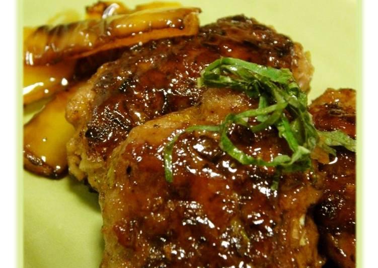 Minced Pork Sweet and Salty Teriyaki Tsukune Patties