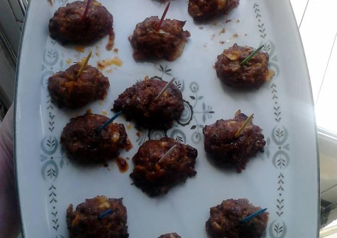 Sweet n Garlicy Appetizer Meatballs