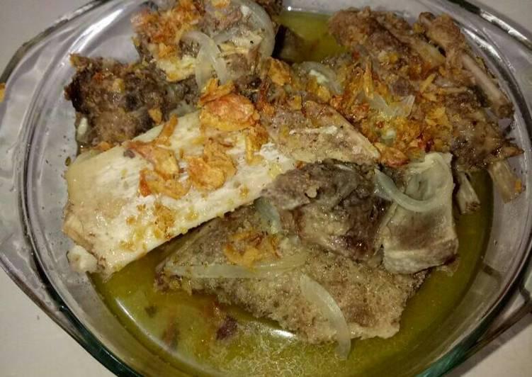 Cara Menyajikan Sop tulang kambing praktis#kitaberbagi yang Sempurna