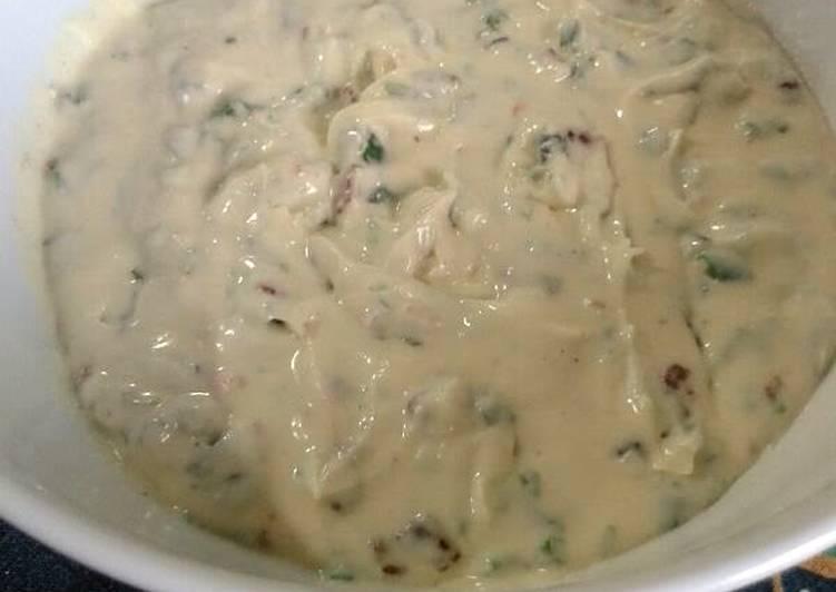 cream cheesse baccon and lemon grass dip