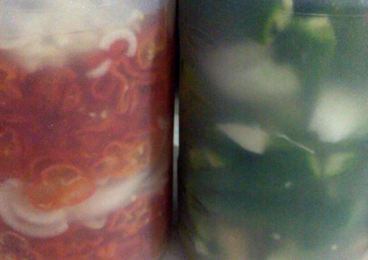 home made chiles de vinagre