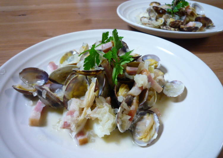 Recipe of Any-night-of-the-week Simple Cod and Manila Clams Steamed in Wine