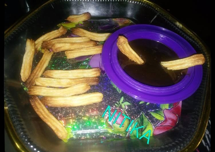 Churros with choco dip