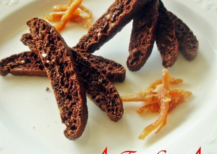 Steps to Make Award-winning Okara & Bitter Cocoa Orange Biscotti