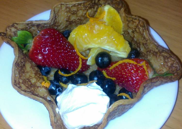 Sig's Pancake basket with fruit, Help Your Heart with Food