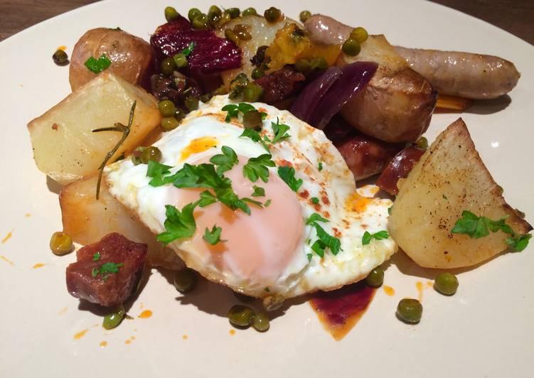 Sausage, Egg An Chips A La Med
