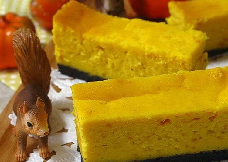 Great for Halloween! Kabocha Squash Cheesecake