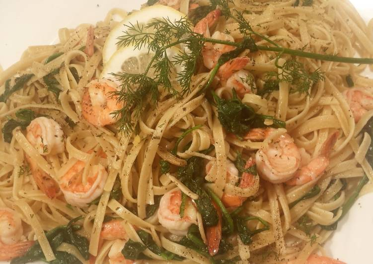 Lemon Dill Shrimp and Pasta