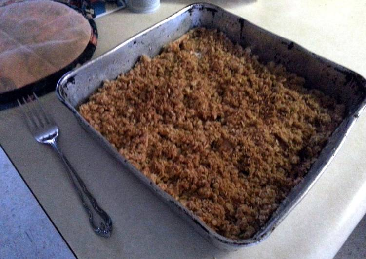 Easiest Way to Make Super Quick Homemade apple crisp