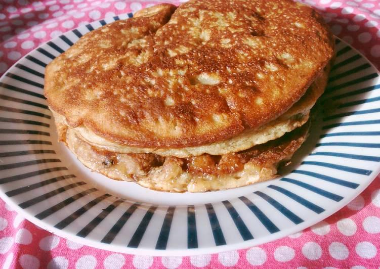 Fluffy Bananut Pancakes