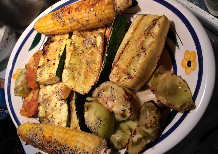 Grilled Summer Vegetables With Herb Garlic Butter