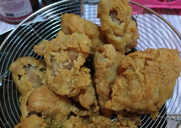 Ayam goreng ala KFC tanpa telur