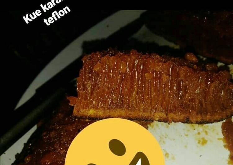resep membuat Kue sarang semut teflon satu telur ala anak kos - Sajian Dapur Bunda