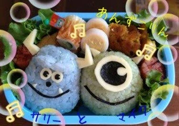 Easy! Charaben (Decorative Bentos) For School Outings - Sully and Mike from Monsters Inc.