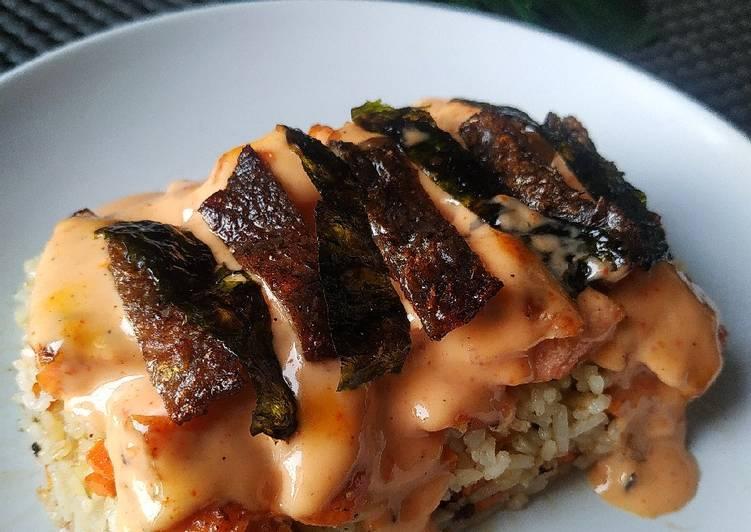 Salmon Mentai Tanpa Oven/Torch