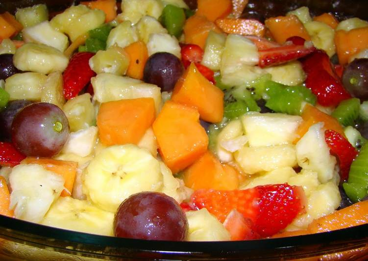 fruit salad with port wine