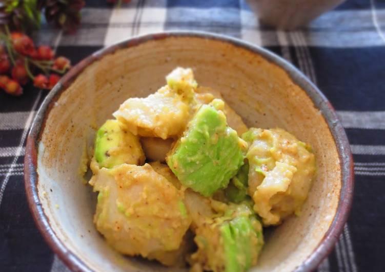 Avocado and Taro Root Seasoned with Sesame and Miso