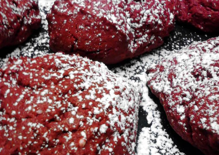 Red Velevet Cream Cheese Cake Cookies