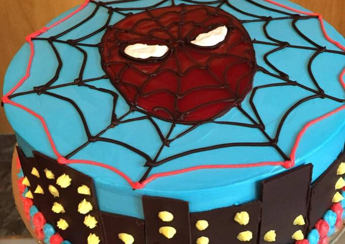 Spider Man Cake Recipe By Happy Luthra Cookpad